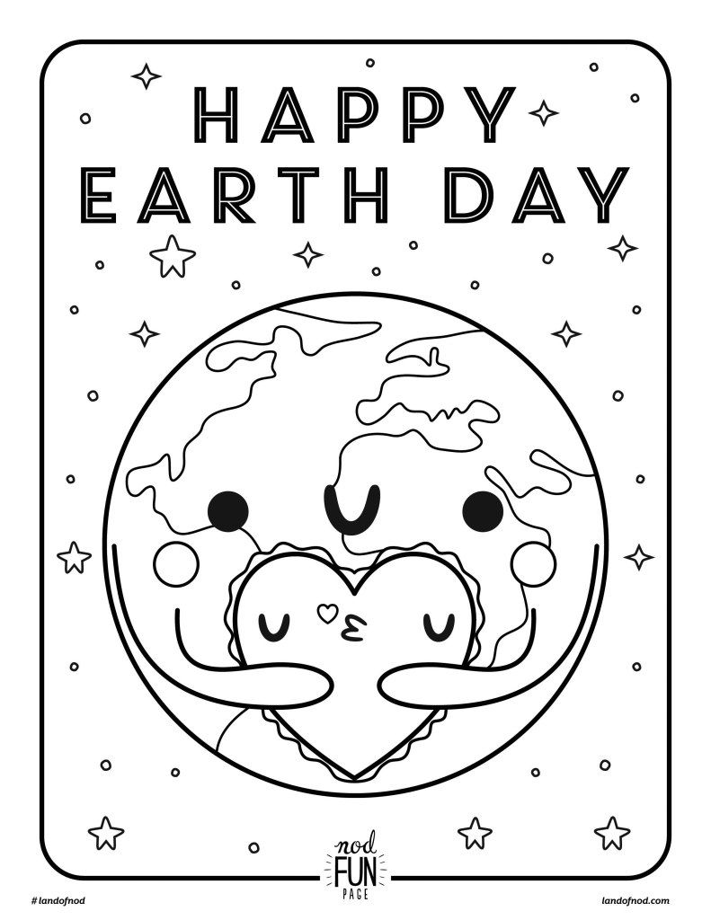 Free Printable Coloring Page: Earth Day