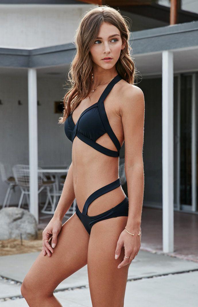 Harness Straps Skimpy Bikini Bottom  pacsun  swimsuits  different  cute   alleyesonme  black  bikini 00ce7a02e
