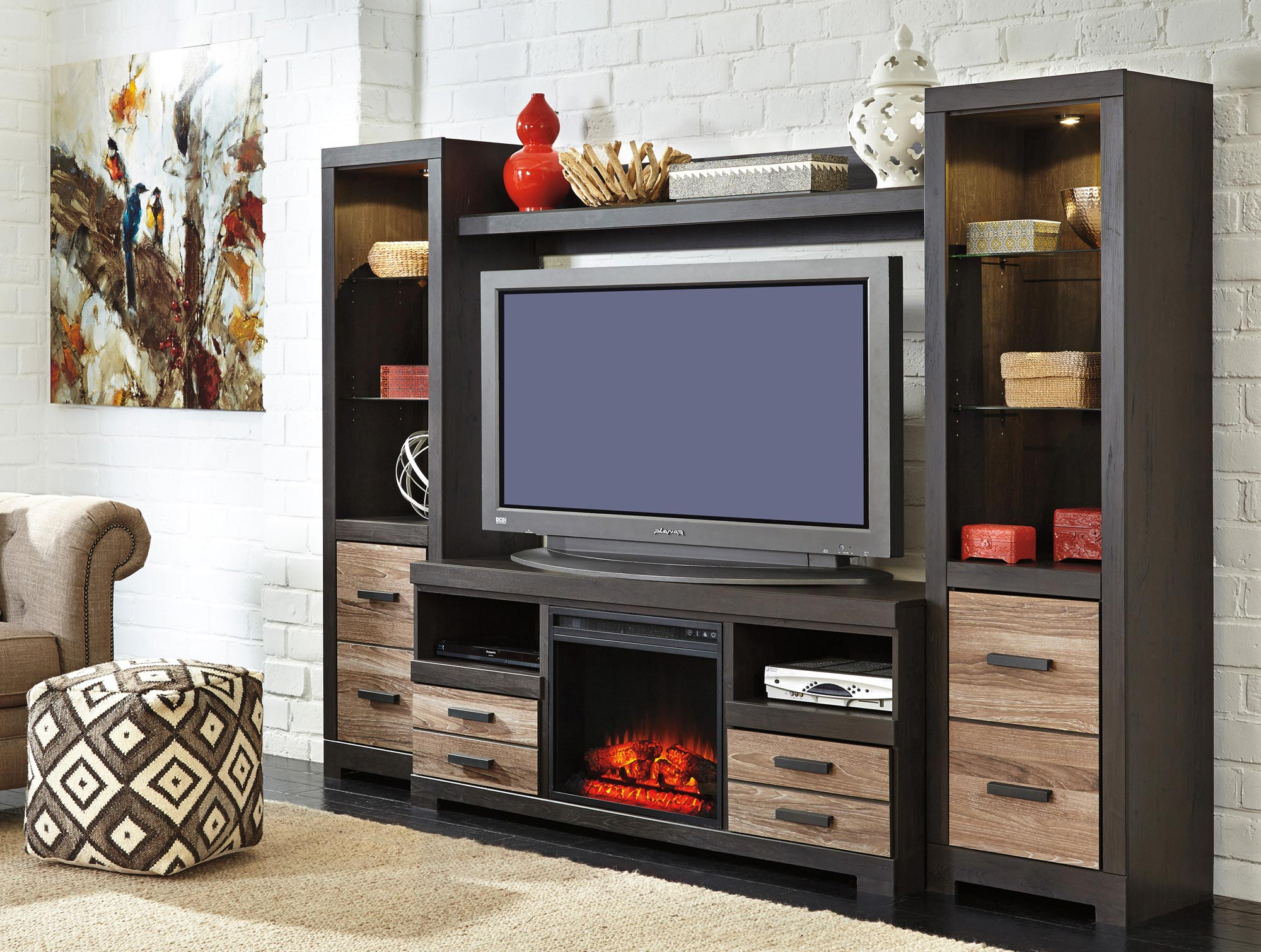 Entertainment Center w/ Fireplace Option | Ashley | Home Gallery ...