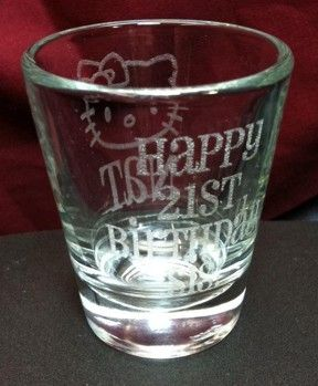 hello kitty 21st birthday shotglasstoo cute Party Ideas