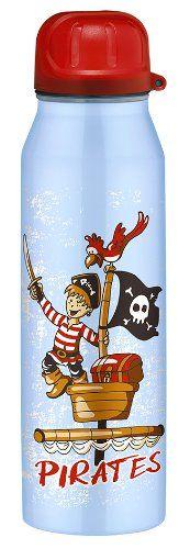 alfi 5337.643.050 Isolier-Trinkflasche isoBottle, 0,5 L, edelstahl, Pirates blau - http://geschirrkaufen.online/alfi/pirates-blau-alfi-5337-696-050-isolier-isobottle-0