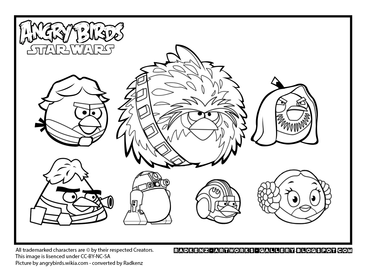 Angry Birds Star Wars Coloring Page | Sebastian | Pinterest ...