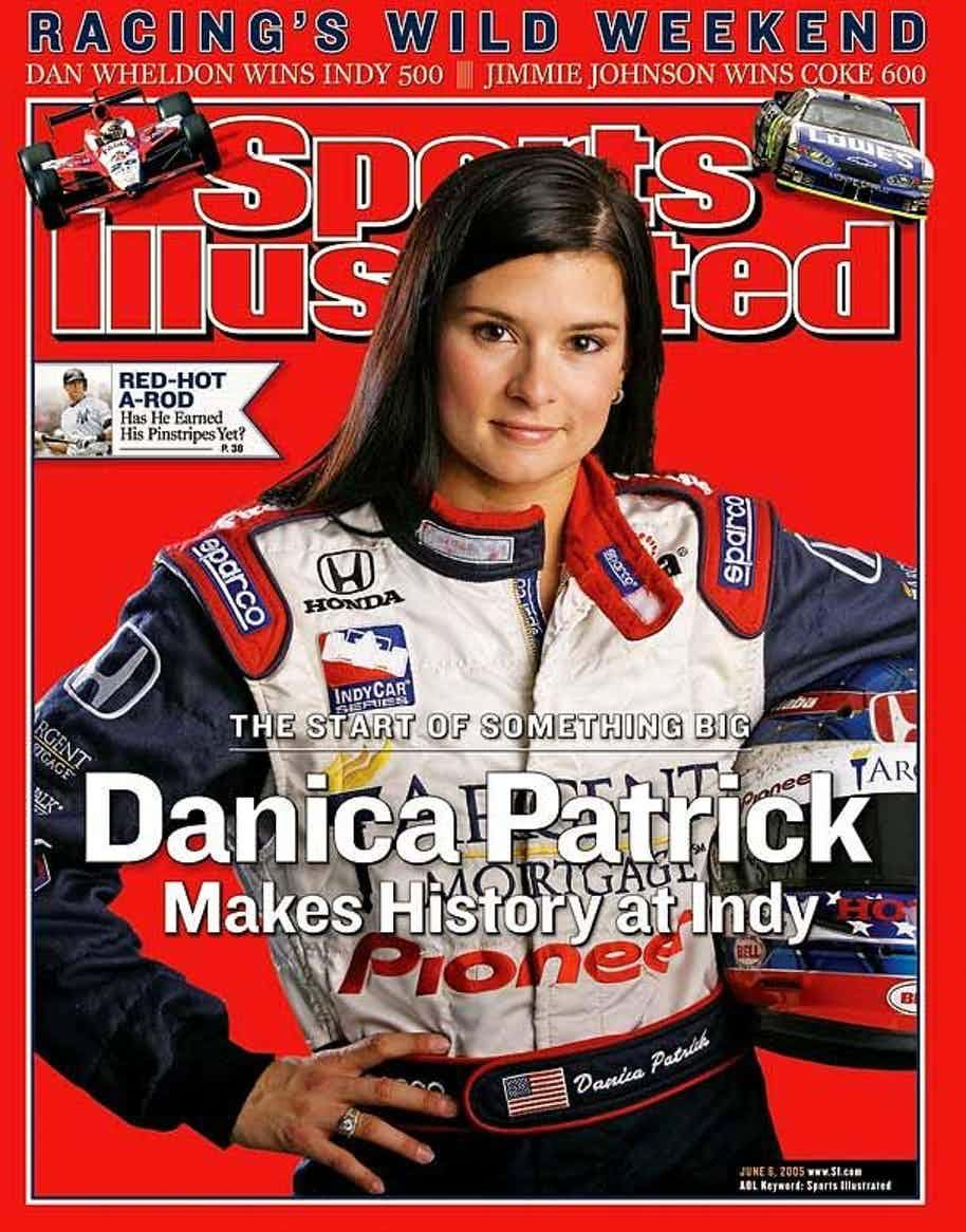 Danica Patrick, the driver has been on the cover of Sports