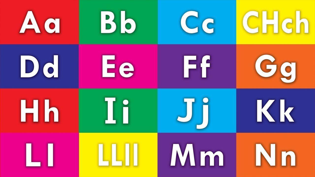 Learn Spanish / Español Alphabet ABC Flash Cards (HD