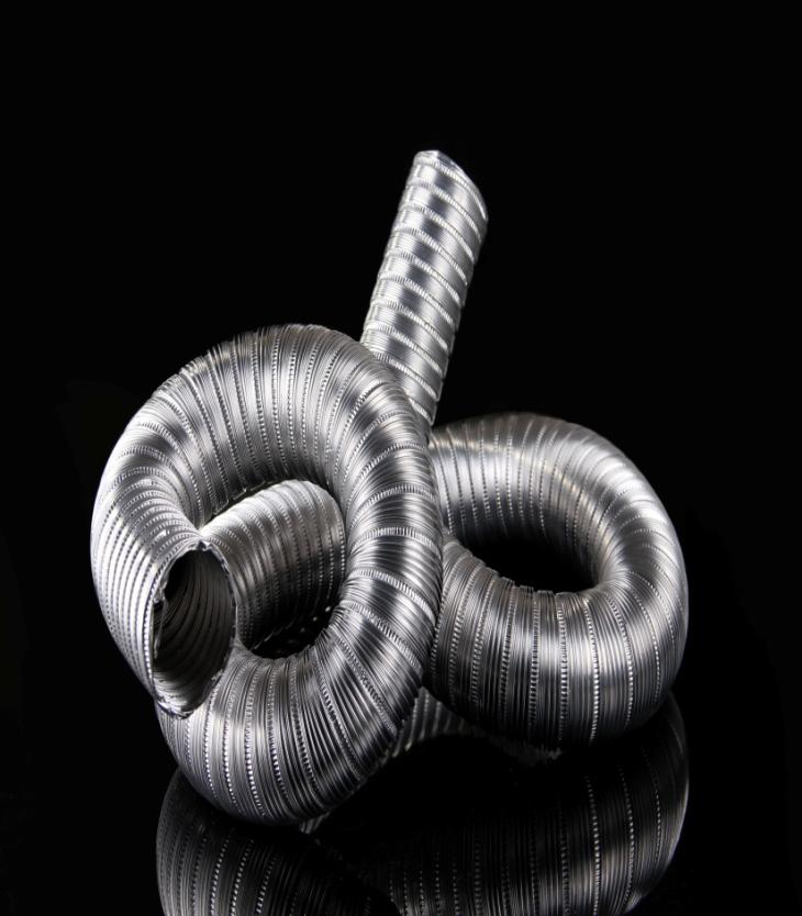 Heat Resistant Semirigid Aluminum High Flexible Duct Fire