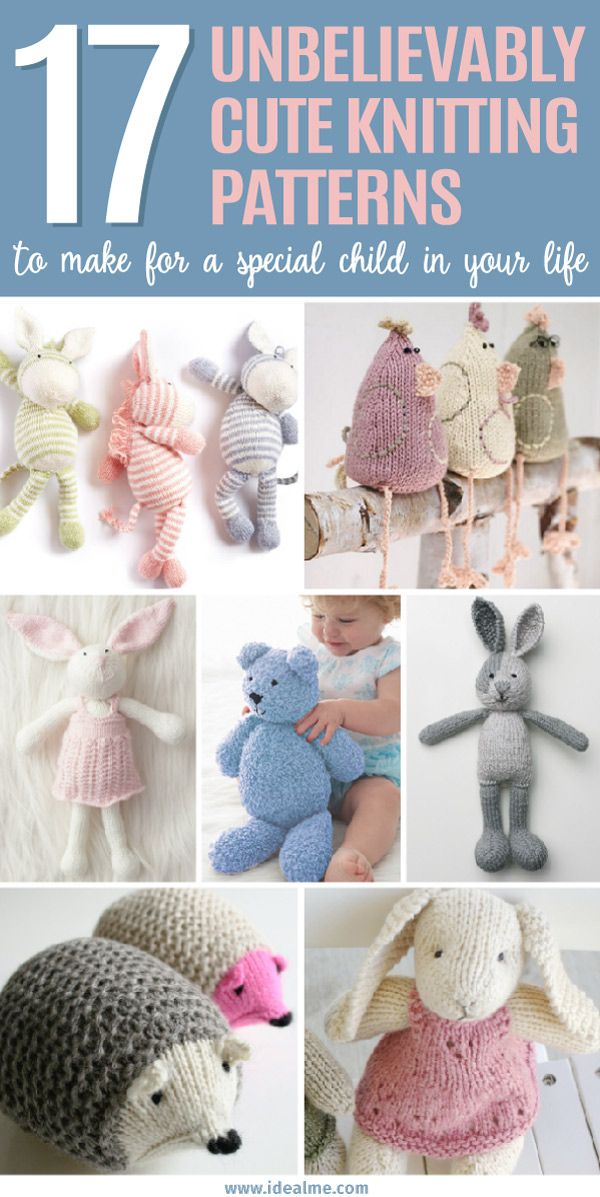 17 Unbelievably Cute Toy Knitting Patterns Knitting Patterns