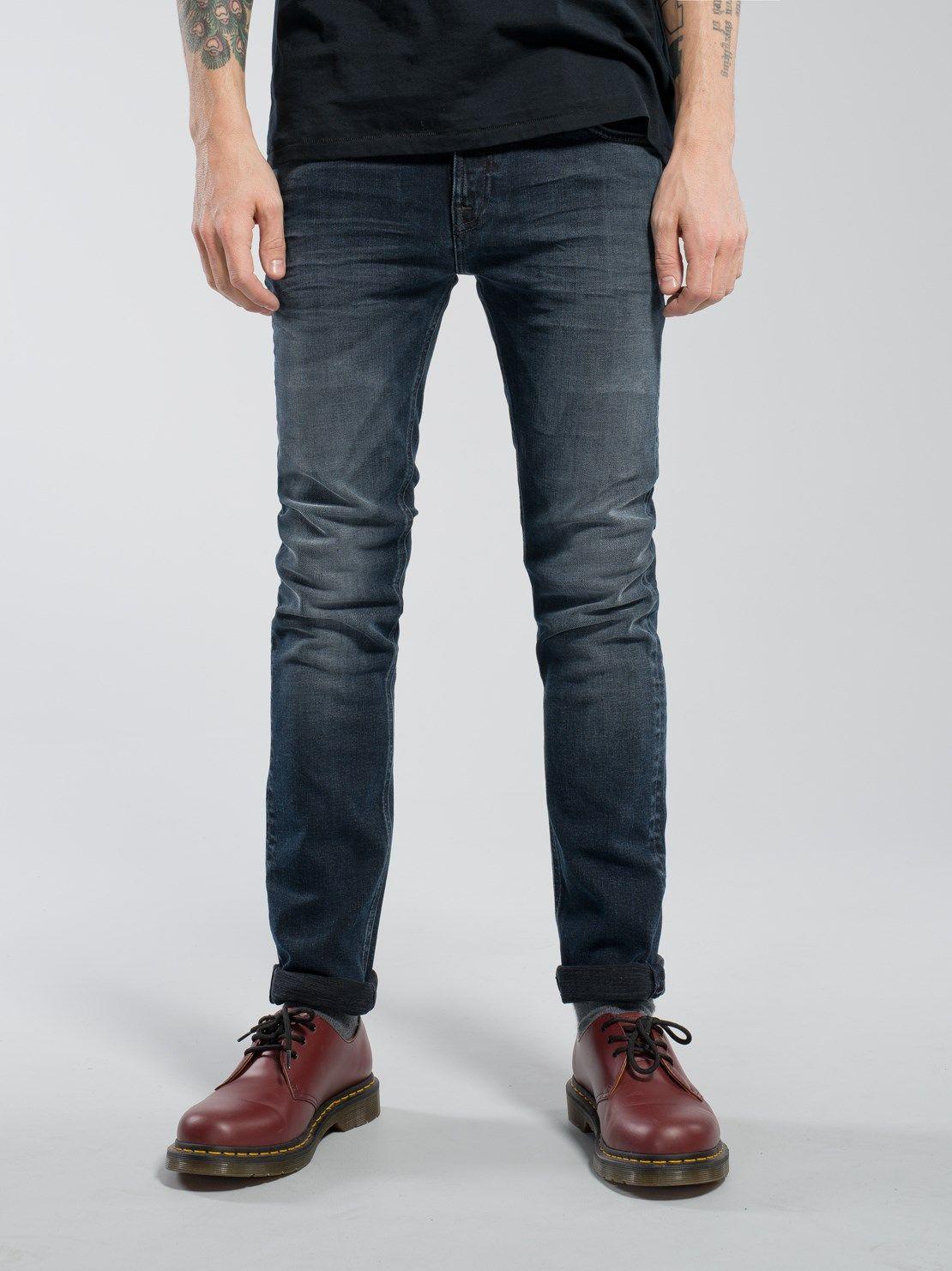 Grim Tim Slim-fit Organic Stretch-denim Jeans - Mid denimNudie Jeans Jeu Dernier jEmDG