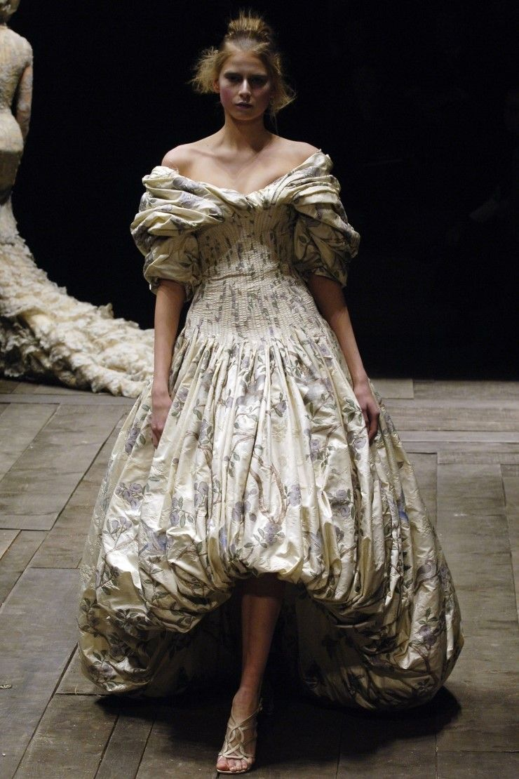 Alexander McQueen. Gathered dress, 'Widows of Culloden', Autumn/Winter 2006.