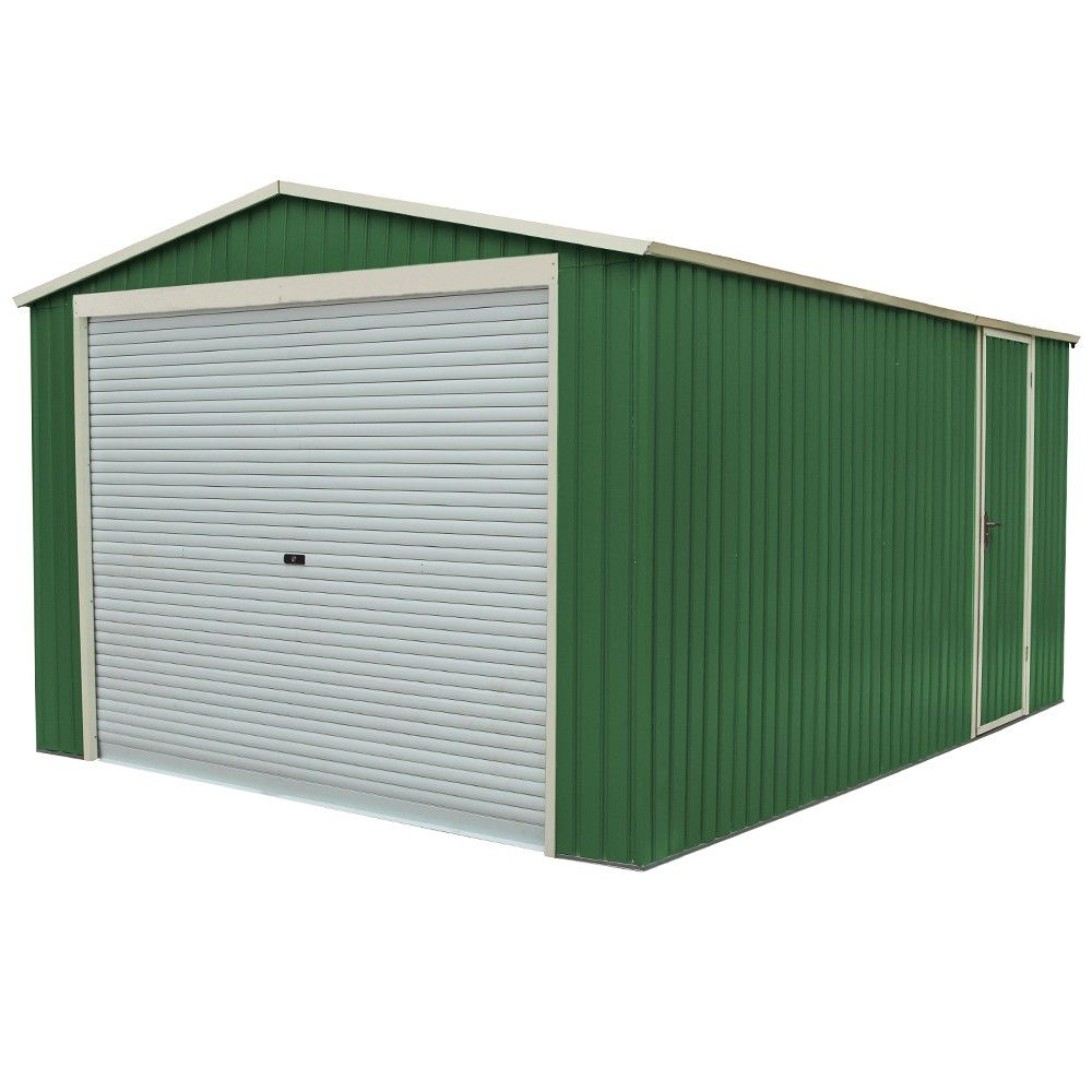 Box Casetta Garage in lamiera zincata giardino esterno ...