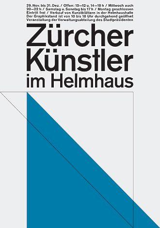 Richard Paul Lohse  Zürcher Künstler im Helmhaus, exhibition poster, 1964