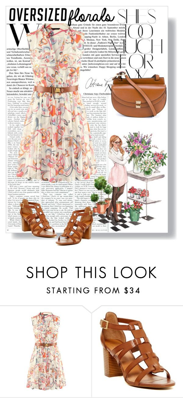 """Oversized Florals"" by avete ❤ liked on Polyvore featuring Rika, 14th & Union and Chloé"