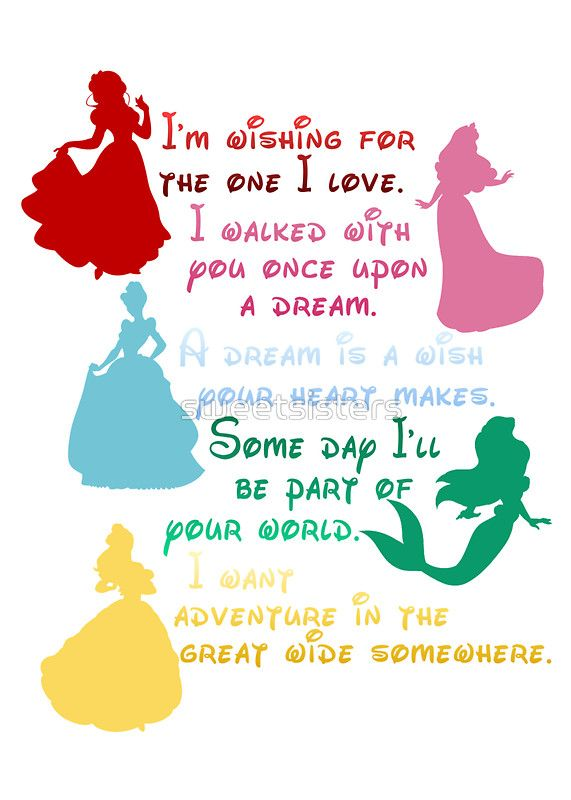 the princesses of disney some lyrics disney princess quotes