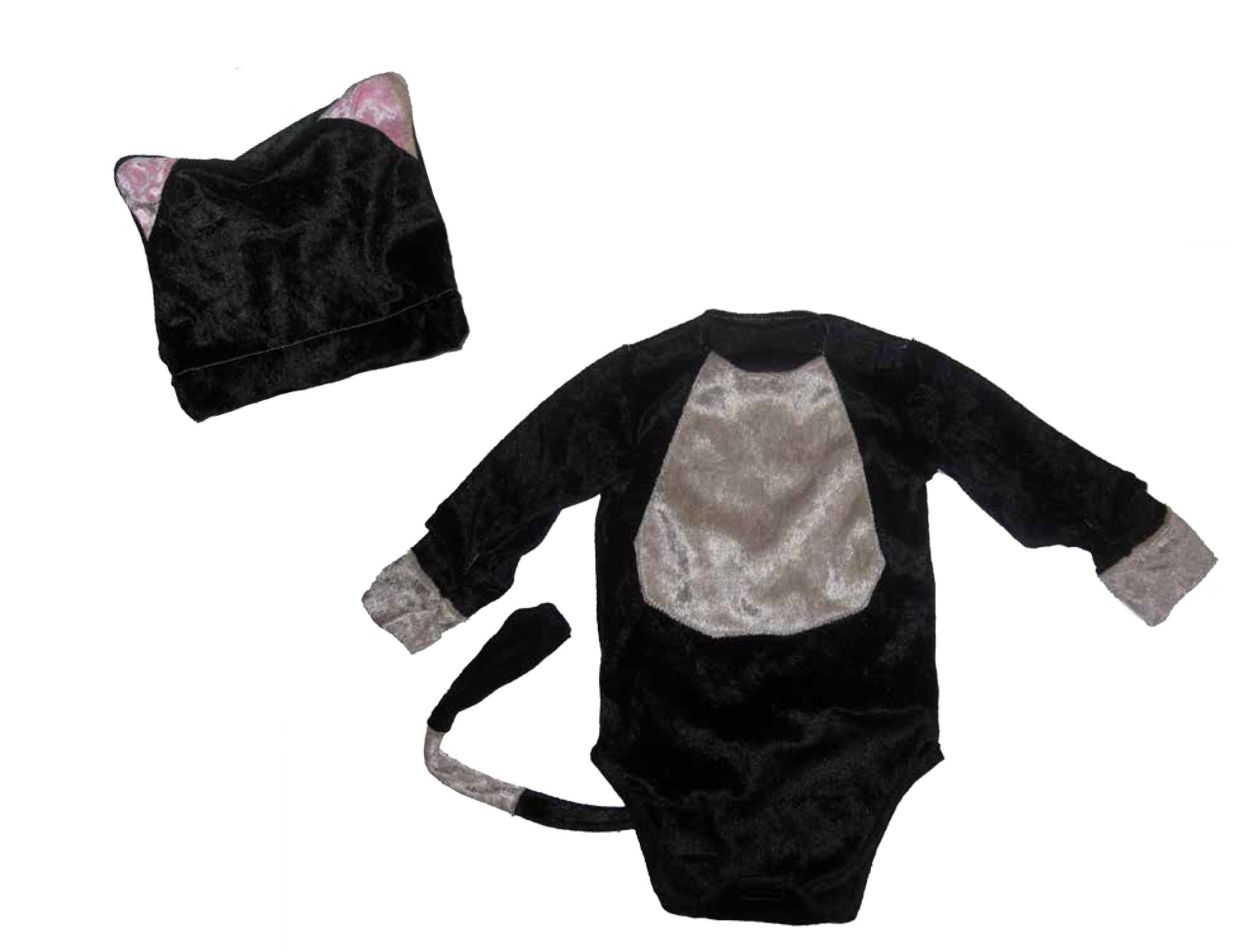 Katze Kostüm Halloween Karneval Größe 50-92 Baby Body Kleid Pulli ...