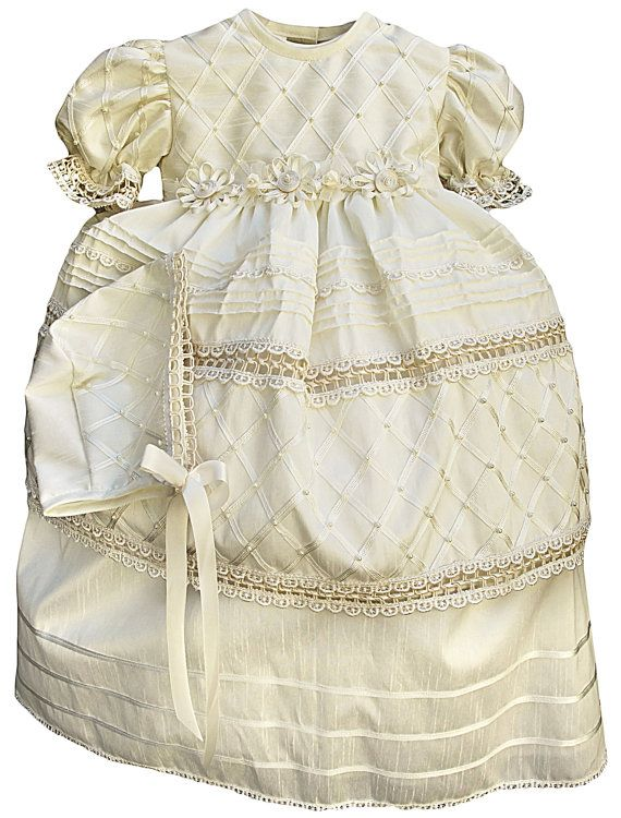 Vintage Christening gown for girl (baptism dress G001)