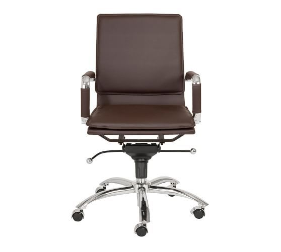Chalmers Low Back Desk Chair Brown Office Chair Desk Chair