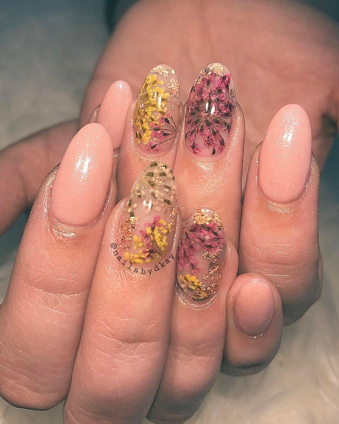 Pressed Flower Nails Spring 2017 | POPSUGAR Beauty | Nails ...