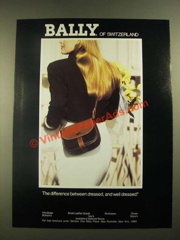 1988 Bally Of Switzerland Handbags Ad