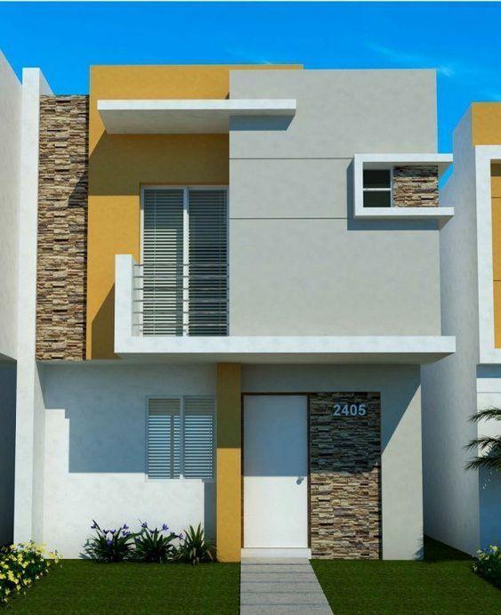 Combinacion De Colores Para Fachadas De Casas Colores Para Fachadas 2018 2019 Co Fachadas Casas Minimalistas Exteriores De Casas Casas Minimalistas Pequenas