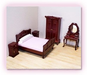 Deluxe Doll - House Bedroom Furniture