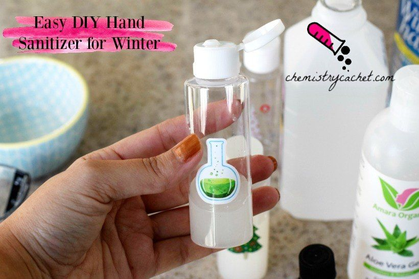 Diy Hand Sanitizer For Winter Great Christmas Gift Idea Hand