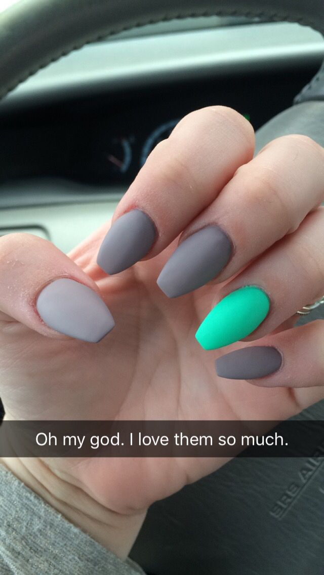 Nails. Spring nails. Color. 2016. Coffin shape. | to be f ...