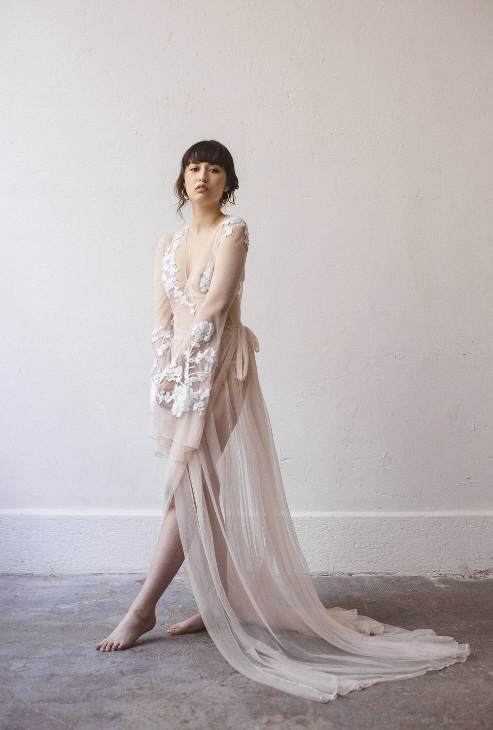 Delicate French Lace From The Atelier For Our Anese Inspired Bridal Shoot Photo