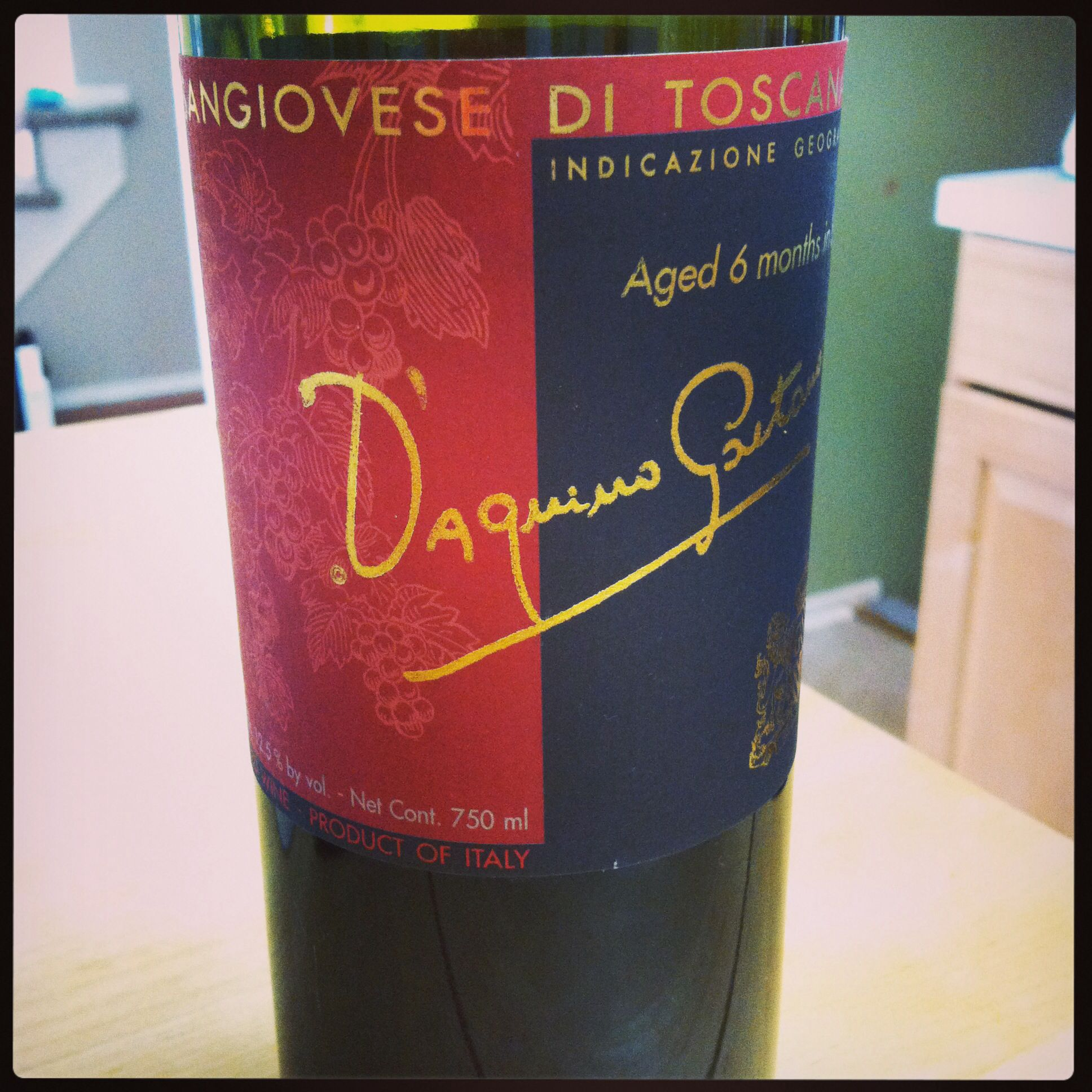 5 Bottle Of Red Wine From Trader Joe S 2012 Sangiovese Di Toscana D Aquino Gaitano Red Wine Wine Bottle Alcoholic Drinks