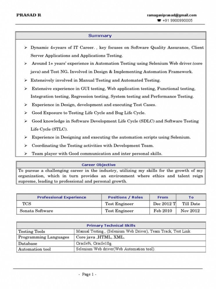 10 Selenium Fundamental Resume