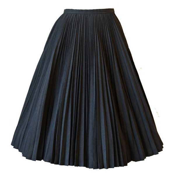 Sunray pleated 1950s grey full circle skirt ($55) ❤ liked on Polyvore featuring skirts, bottoms, faldas, long skater skirt, long circle skirt, gray skirt, petticoat skirt and pleated skater skirt