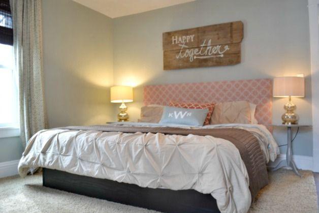 A (cheap) master bedroom update - adding some orange Master