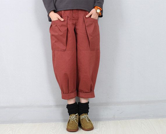 Woman Pants Seventh Pants Wide leg Pants Camo by OurLittleDaisy
