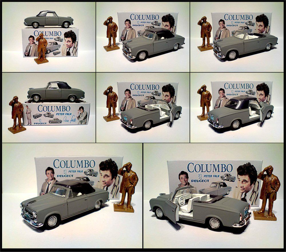 columbo special edition grey peugeot 403 peter falk with code 3