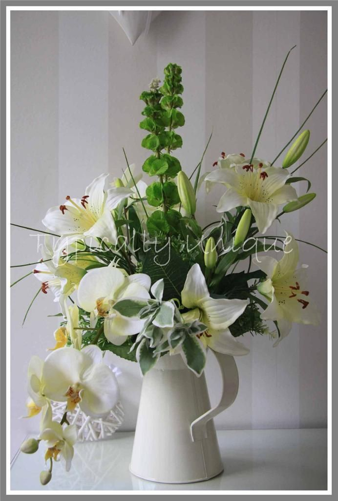 Lilies and orchids