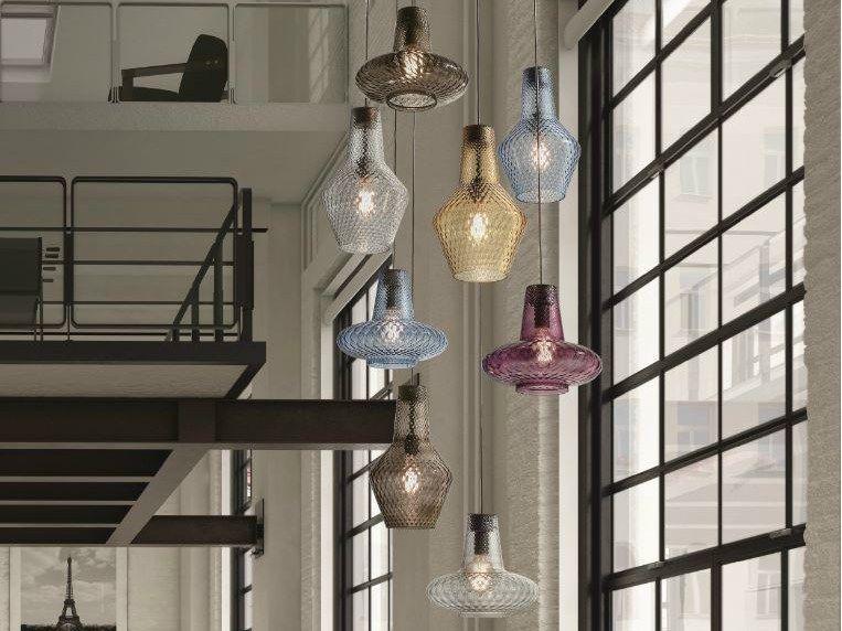 Blown Glass Pendant Lamp Romeo E Giulietta Zafferano Pendant Light Glass Kitchen Lights Modern Pendant Light