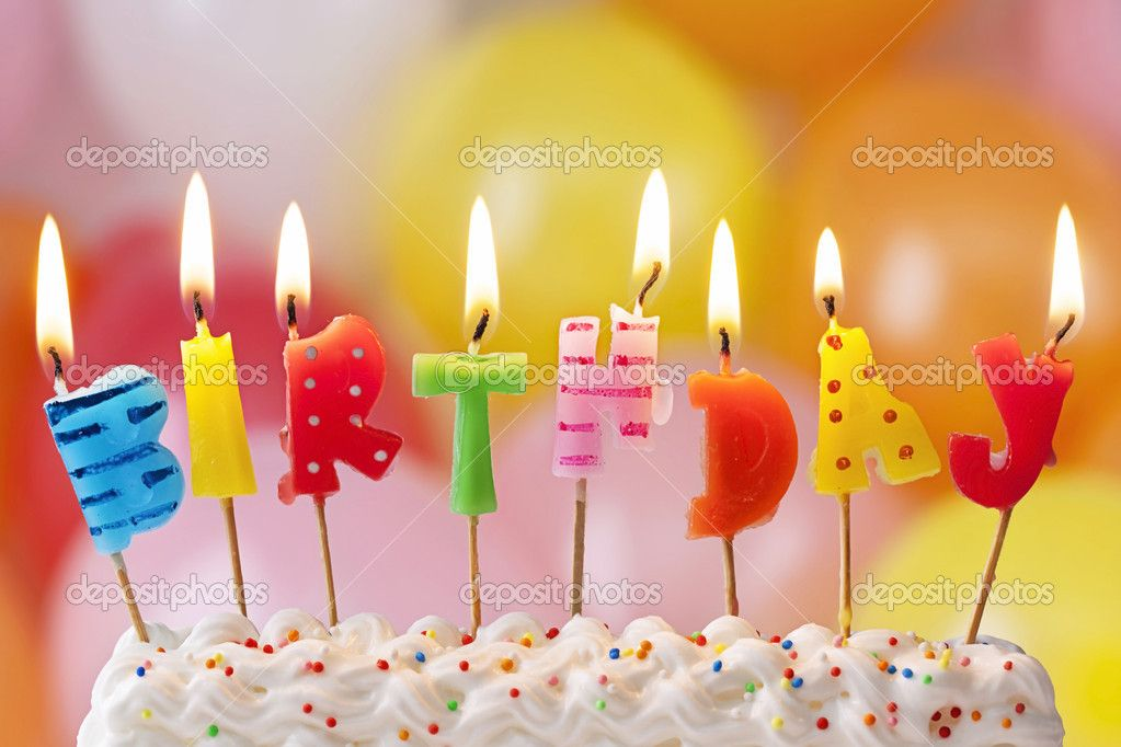 Velas de cumpleaños — Imagen de stock #21575733