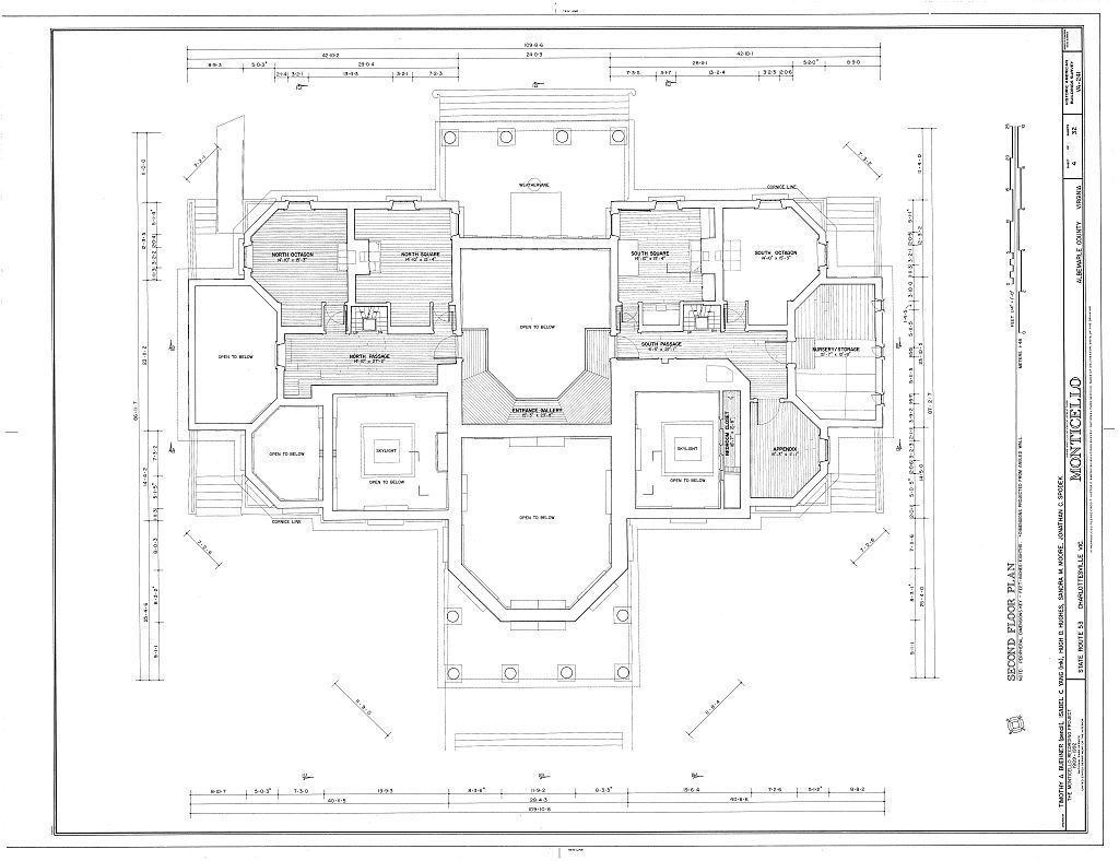 Monticello Upper Architectural Floor Plans
