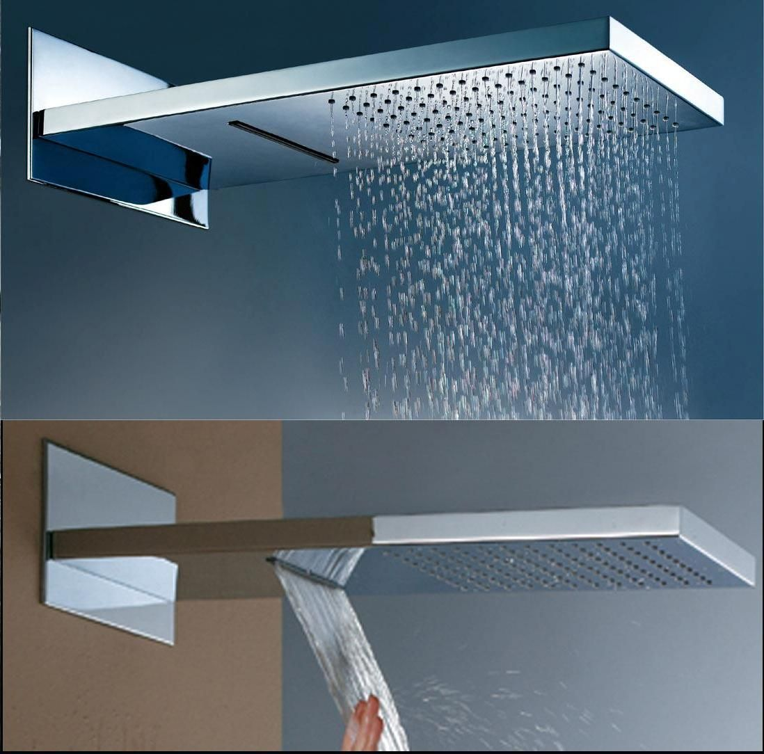 Hot Item Rainfall Shower Heads 2functions H2202 Waterfall Shower Shower Heads Luxury Shower