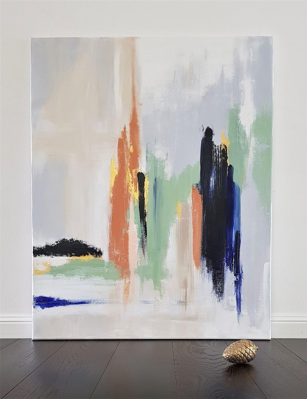 bilderwand ideen inspiration bei couch abstrakte kunst auf leinwand moderne bilder wasserfarben acrylgemälde modern acrylbilder blumen