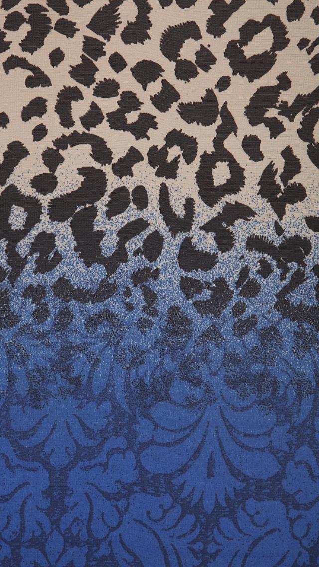 Background pattern leopard blue iphone classy wallpaper