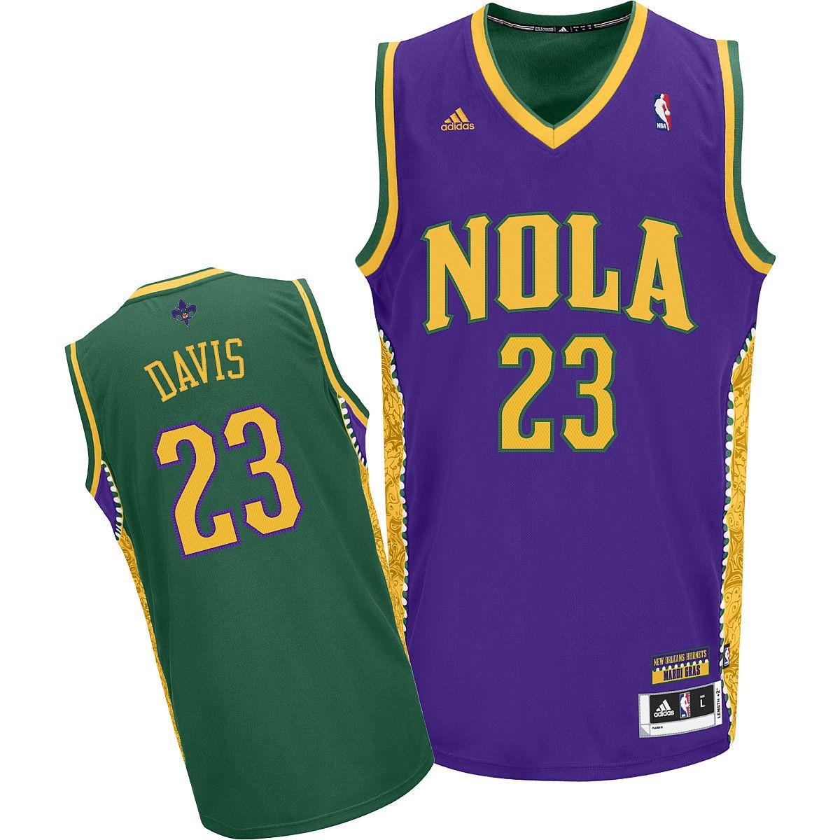 Adidas New Orleans Hornets Anthony Davis Mardi Gras Fashion
