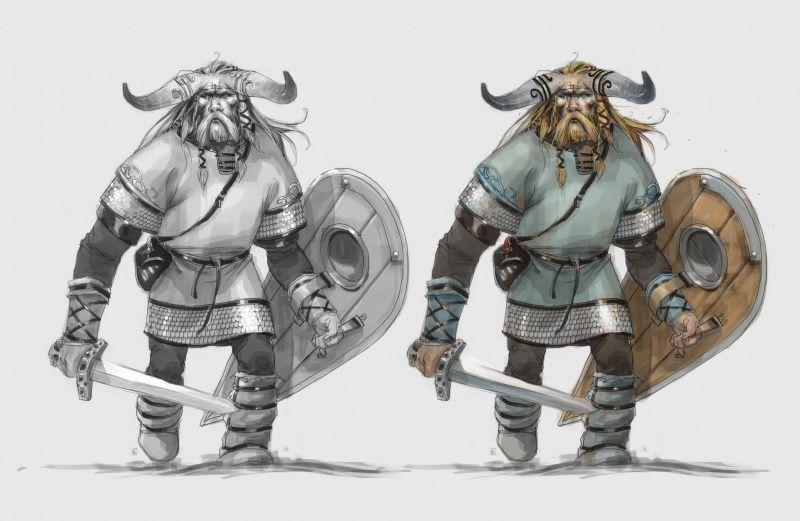 ARNIE JORGENSEN - The Banner Saga:Concept Sketch Iver