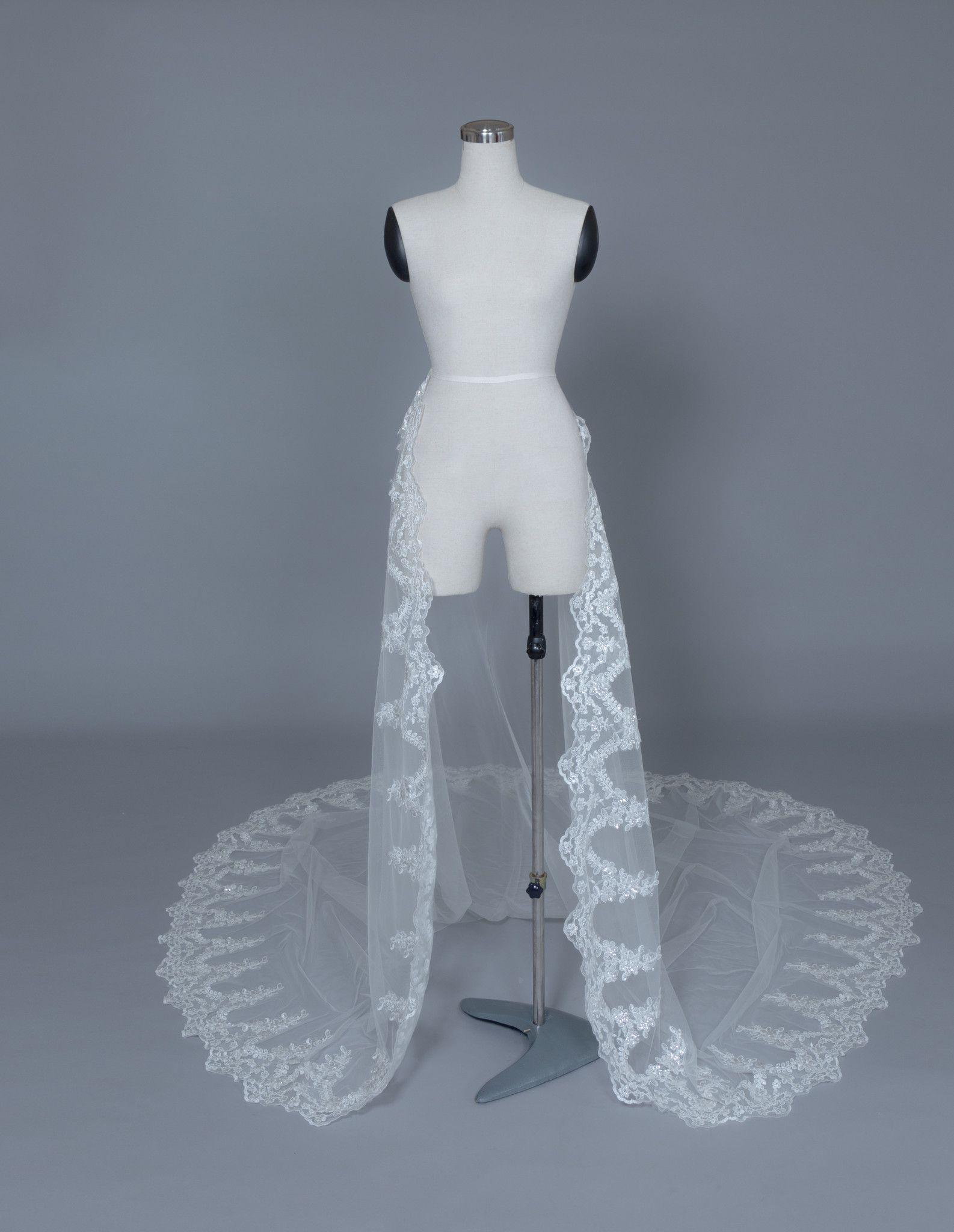 Detachable Bridal Train (#Kallista) | Tulle lace, Weddings and Wedding