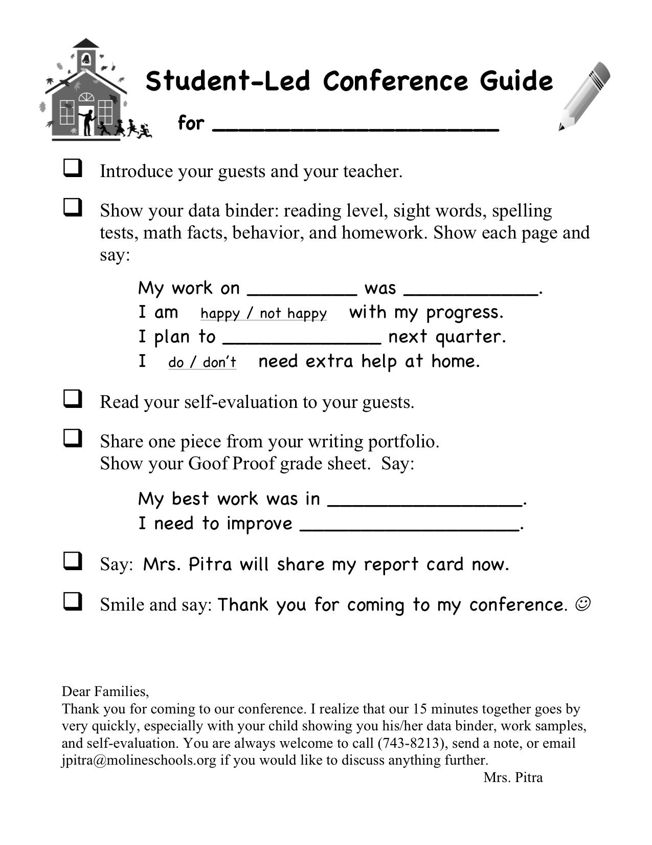 created by julie pitra student led conferences pinterest