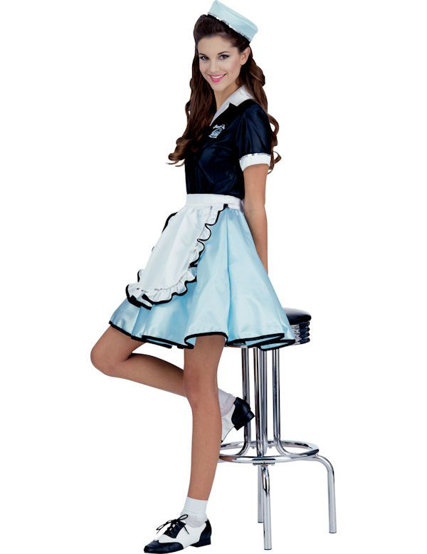 a2fc7f2a6926 waitress costume 50's | 50s Diner Waitress Costume | Simply Fancy Dress