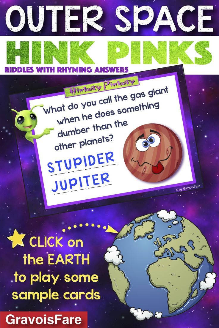Space Hink Pinks 25 Riddles and Rhymes about Outer Space