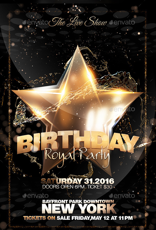 birthday flyer maker