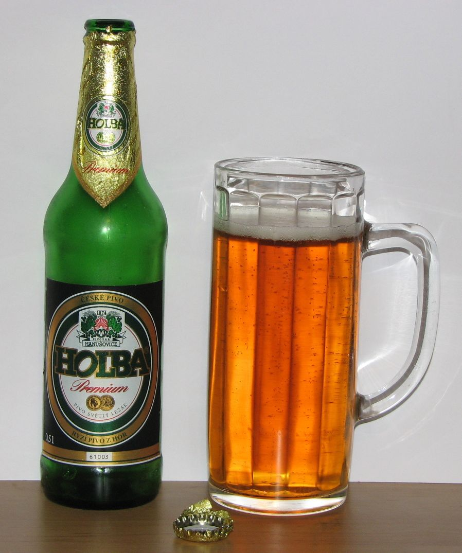 Pivovar Holba - Holba Premium 5,2% 50cl pullo jaettu Aki, Kaima ja mie Aki toi pullon