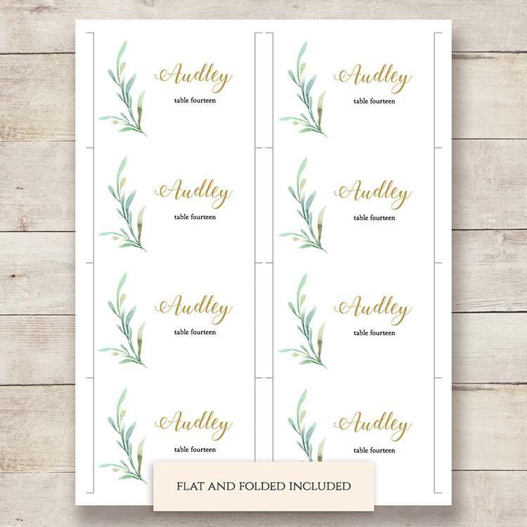 Byron Printable Wedding Order Of Service Template Wedding Place Card Templates Printable Place Cards Wedding Place Card Template