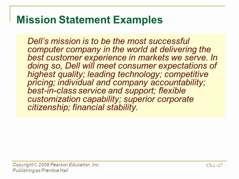 Customer Service Mission Statement Examples Awesome