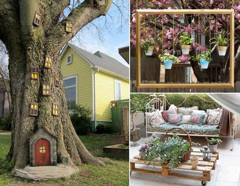Décor de jardin à faire soi même 25 idées originales pas chères